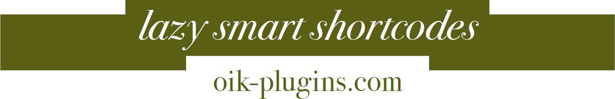 lazy-smart-shortcodes-oik-plugins